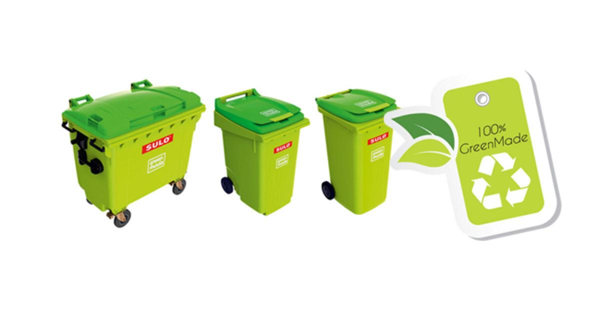 Avfallsbeholdere av fornybar fossilfri plast