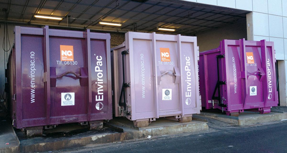 Bedre avfallshåndtering på kjøpesenter gir gevinster