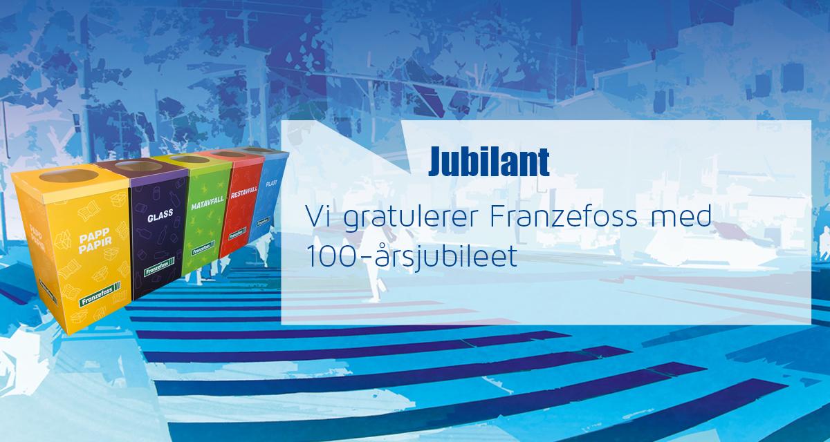 Vi gratulerer Franzefoss med 100-årsjubileet