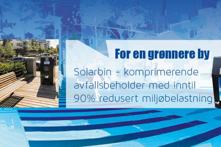 Solarbin – Komprimerende avfallsbeholder med solcelle og digital kommunikasjon