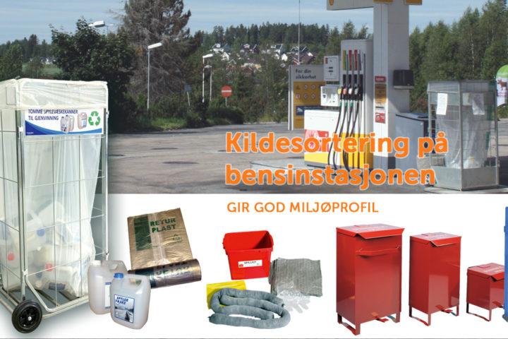 Kildesortering på bensinstasjonen gir god miljøprofil