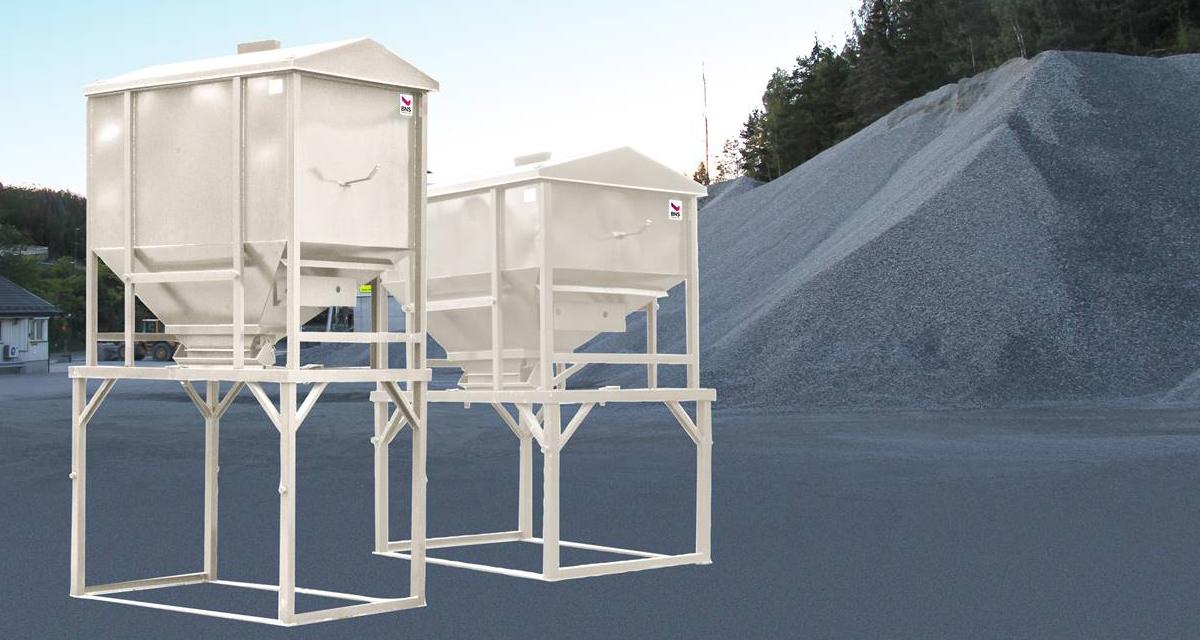 Strøsingel container / sandsilo