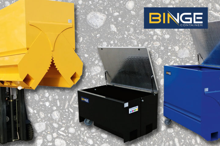 Ny brosjyre og kampanje på Binge – containere for truck med gaffelspreder