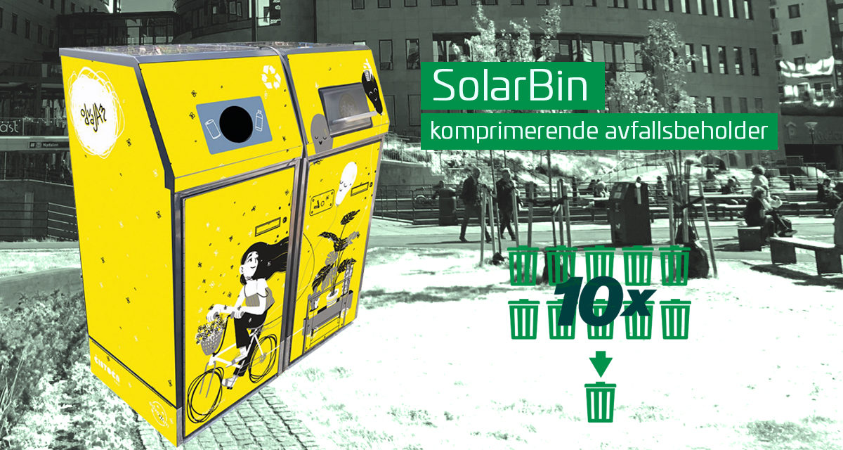 Nye modeller på Solarbin – smart avfallsbeholder