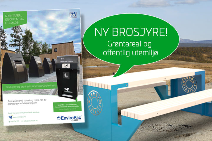 Vi gir deg inspirasjon til utemiljøet på avfallsløsninger og møbler
