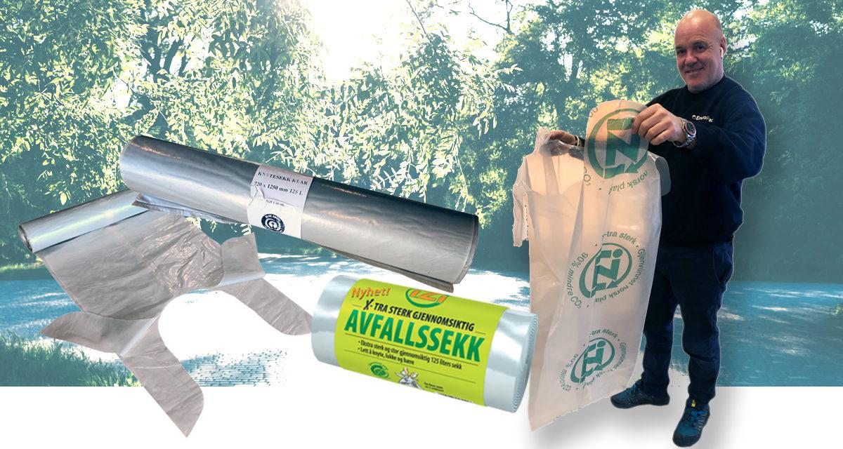 Sekker og søppelklyper til vårdugnaden og strandryddeaksjonen