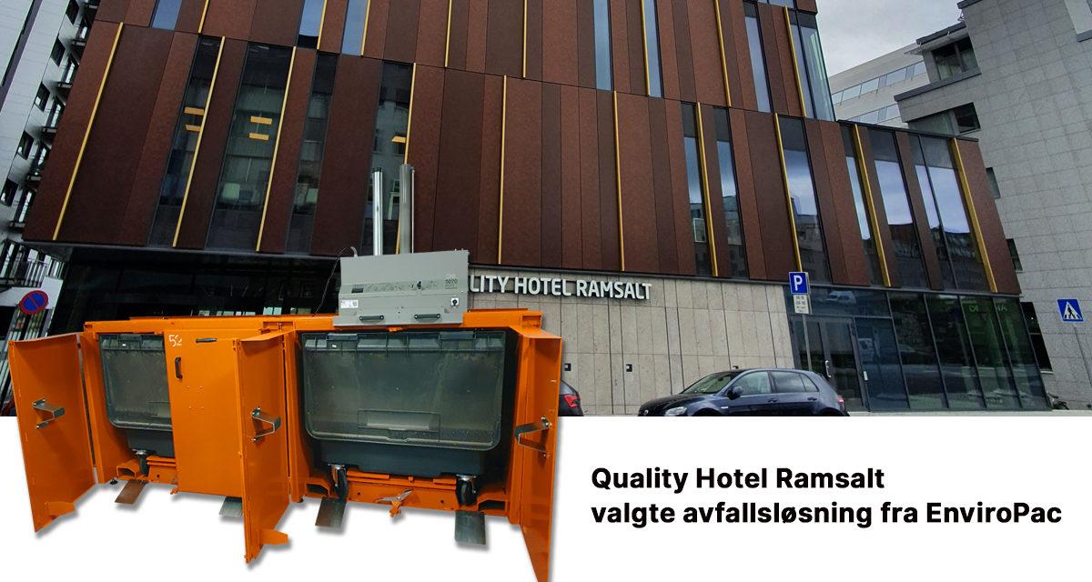 Quality Hotel Ramsalt i Bodø valgte en driftseffektiv avfallsløsning til beste for miljøet